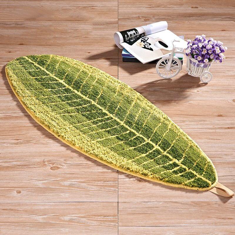 Лидер продаж в форме листьев диван Кофе столик ковер Гостиная Спальня Ковер Дверной коврик абсорбент нескользящей Ванная комната Кухня ков...