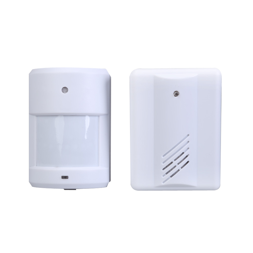 exterior courtesy door bell alarm chime doorbell wireless infrared monitor sensor sensitive detector welcome entry musiconline