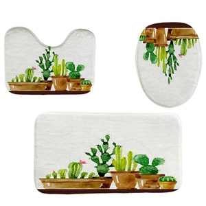 4Pcs Home Bathroom Decor Set P