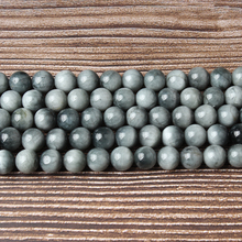 LIngXiang Natural jewelry 8mm gray hawk is eye  Loose beads DIY Mens and womens bracelets necklaces accessories