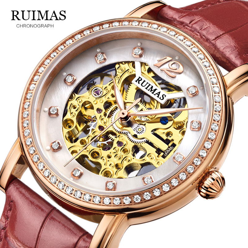2019 RUIMAS Women Watches Automatic Mechanical Watch Female Tourbillon Clock Reloj Mujer Skeleton Hour Top Brand Wristwatch2019 RUIMAS Women Watches Automatic Mechanical Watch Female Tourbillon Clock Reloj Mujer Skeleton Hour Top Brand Wristwatch