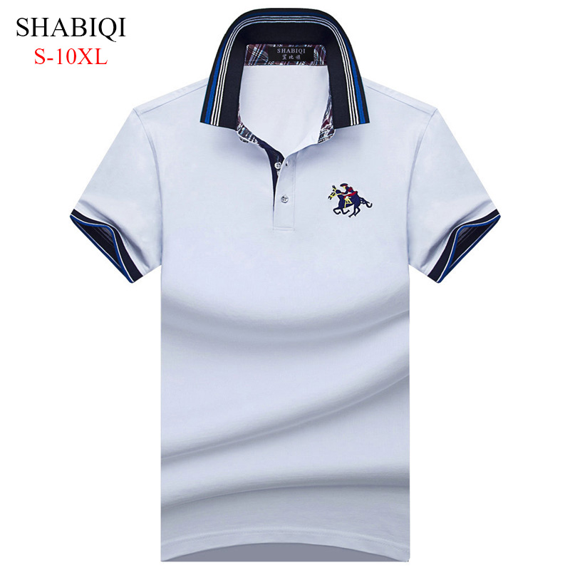 765bbb995 2019 New Classic Mens Polo Shirts Long Sleeve autumn Men s Shirt Brands  Camisa Polo Masculina Plus Size 6XL 7XL 8XL 9XL 10XL
