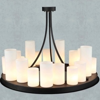 NEW Vintage Country Style Round Wood Glass Candlestick Led E27 Pendant Light for Living Room Dining Room Restaurant Bar 1684