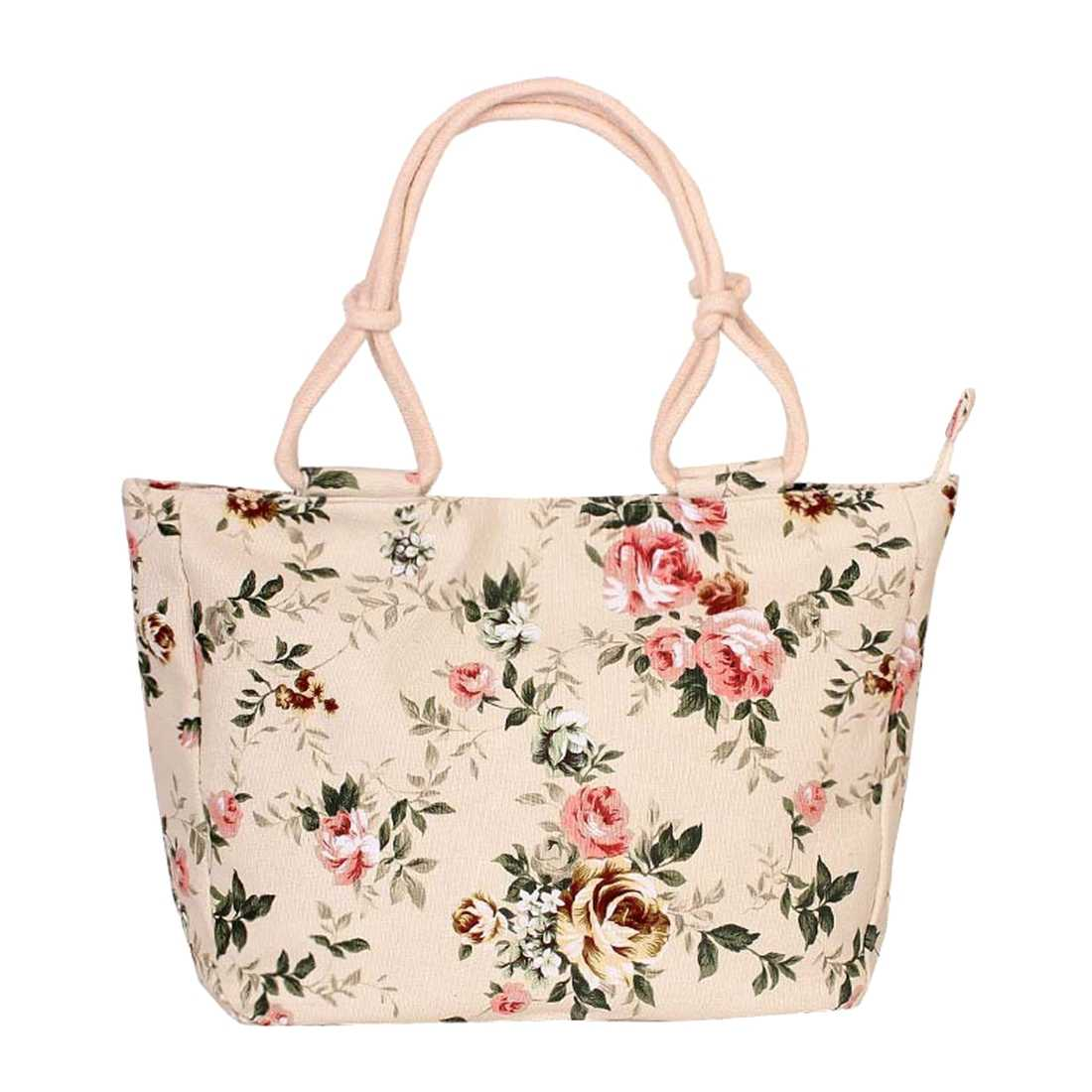 TEXU Women canvas flowers printing bag large capacity portable Shoulder bag