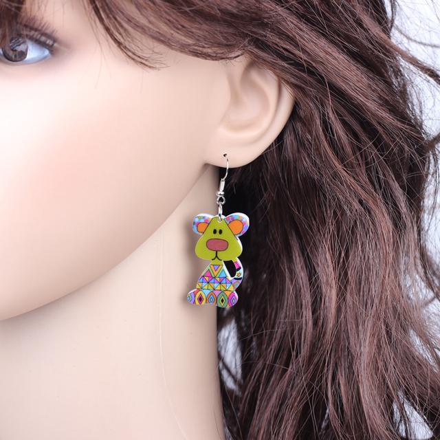 Cute Acrylic Dog Patterned Earrings