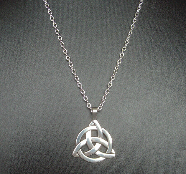 Hot fashion vintage silver triquetra trinity knot charms pendants hot fashion vintage silver triquetra trinity knot charms pendants necklace pagan protection spiritual necklaces diy jewelry mozeypictures Images