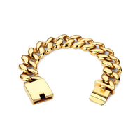 Fashion Jewelry Solid Heavy 316L Stainless Steel Bracelet Men Cool Punk Rock Chain Link Skeleton Mens Bracelets Gifts