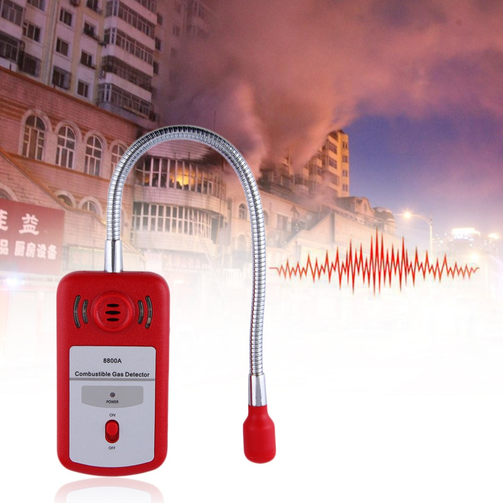 Sensitive Useful Gas Analyzer Combustible Gas Detector Portable Gas Leak Location Determine Tester with Sound-light Alarm official peakmeter pm6310 high accuracy combustible gas leak detector analyzer meter with sound light alarm analizador de gases