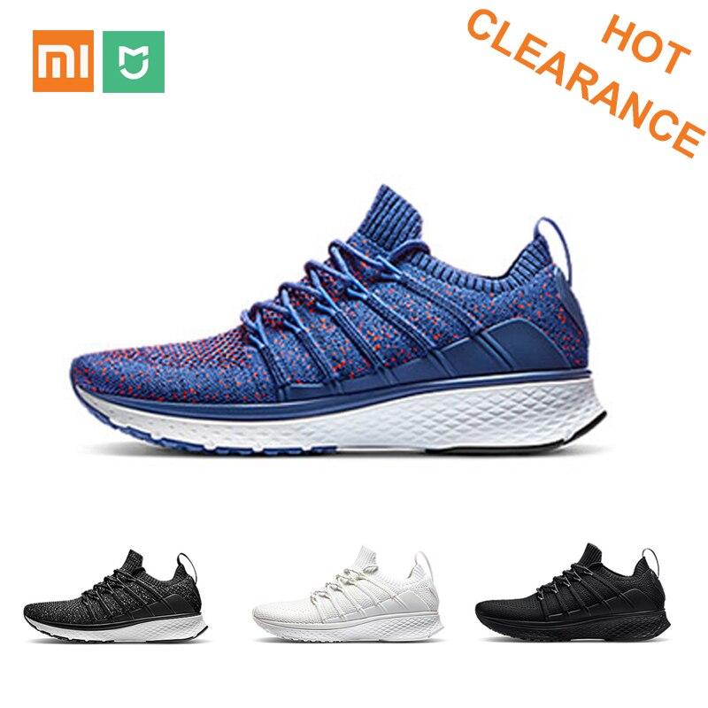 Xiaomi Mijia chaussures de sport intelligentes Sneaker 2 Uni-moulage Techinique système de verrouillage en arête de poisson élastique tricot Vamp semelle absorbant les chocs