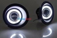 EOsuns CCFL Angel Eye Led Daytime Running Light DRL Fog Light Projector Lens For Chevrolet Captiva