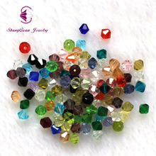 Wholesale 300PCS/LOT Bicone Beads 5328/5301 6mm Czech Loose Beads Crystal Faceted Glass Beads for DIY Jewelry Making