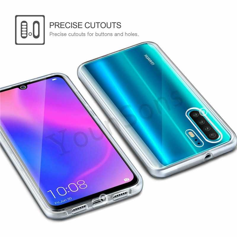 360 Clear Full Cover Protection Case for Huawei P8 P9 Lite 2016 2017 P10 Plus P20 P30 Pro Honor 8X Y6 Y7 Pro 2019 Phone Cases