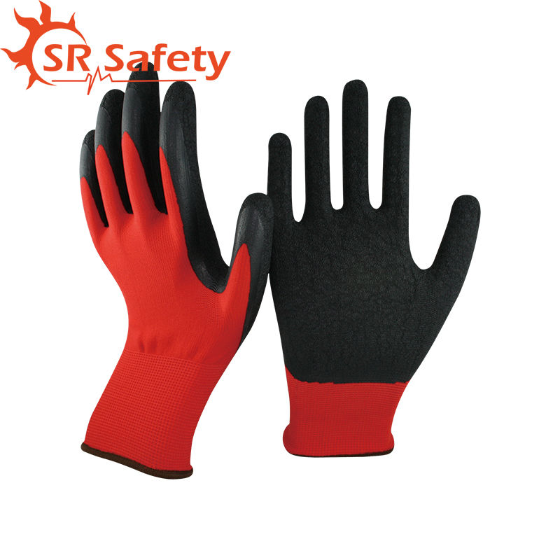 SRSAFETY 2 Pairs Knit Glove with Textured Latex Coating Gripping Gloves bosch ppr 250