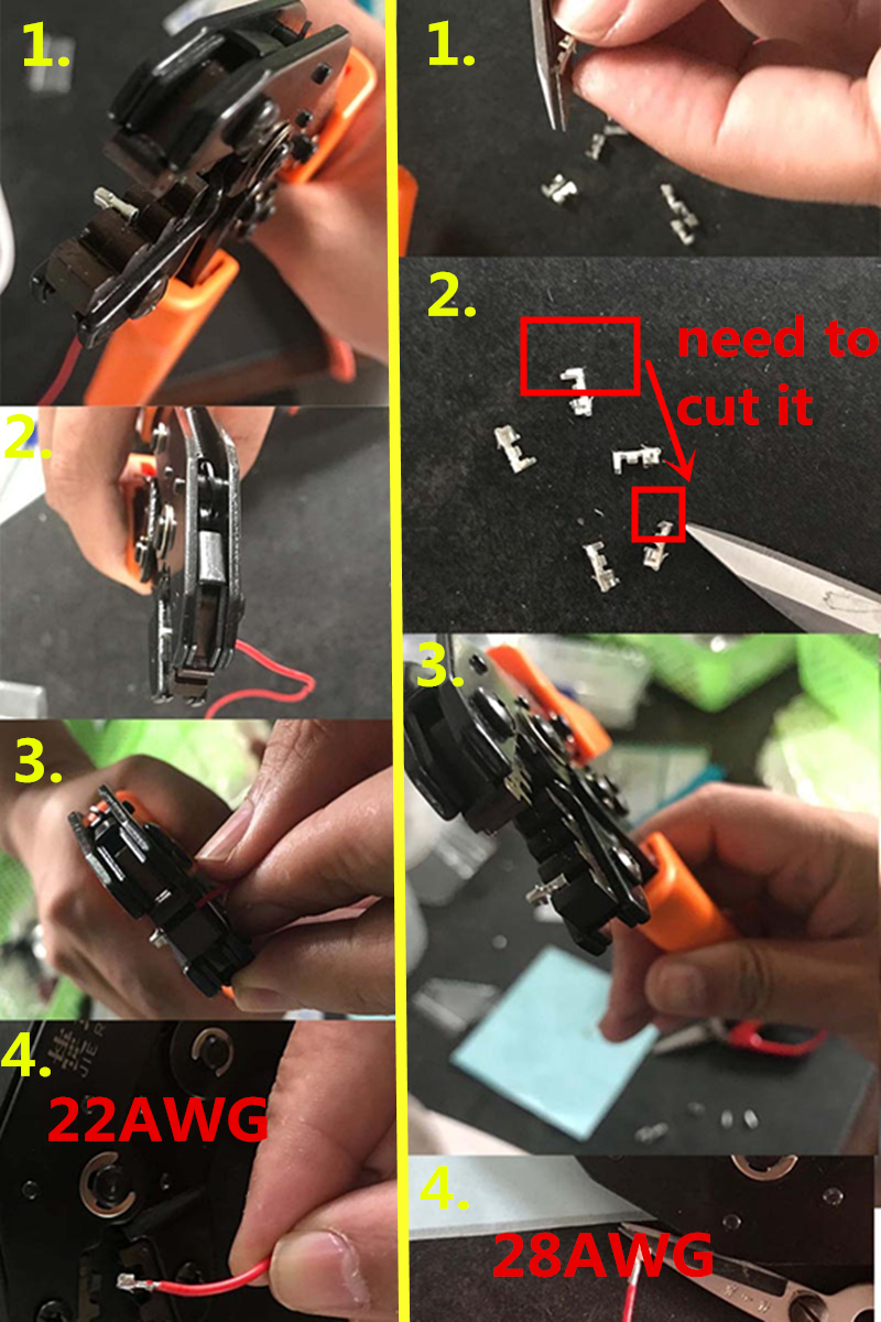 JRD Crimping Tool Crimping Pliers For Dupont XH2.54 KF2510 SM 2.54mm ...