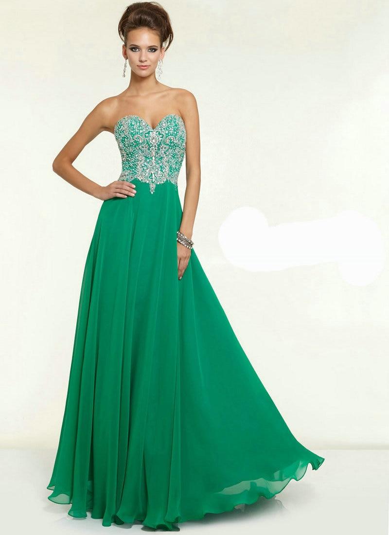 Vestidos de fiesta de verde