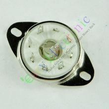 Vente en gros et au détail 4 pièces argent 8pin en céramique tube à vide prise loctal base de soupape fr 5B254 audio ampères livraison gratuite