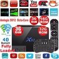 Original X92 2g 16g 3G/32G Amlogic S912 Android 6.0 TV Box Octa Cor 2.4G 5G dual Wifi 4 K 3D H.265 reproductor multimedia Inteligente Set Top Box