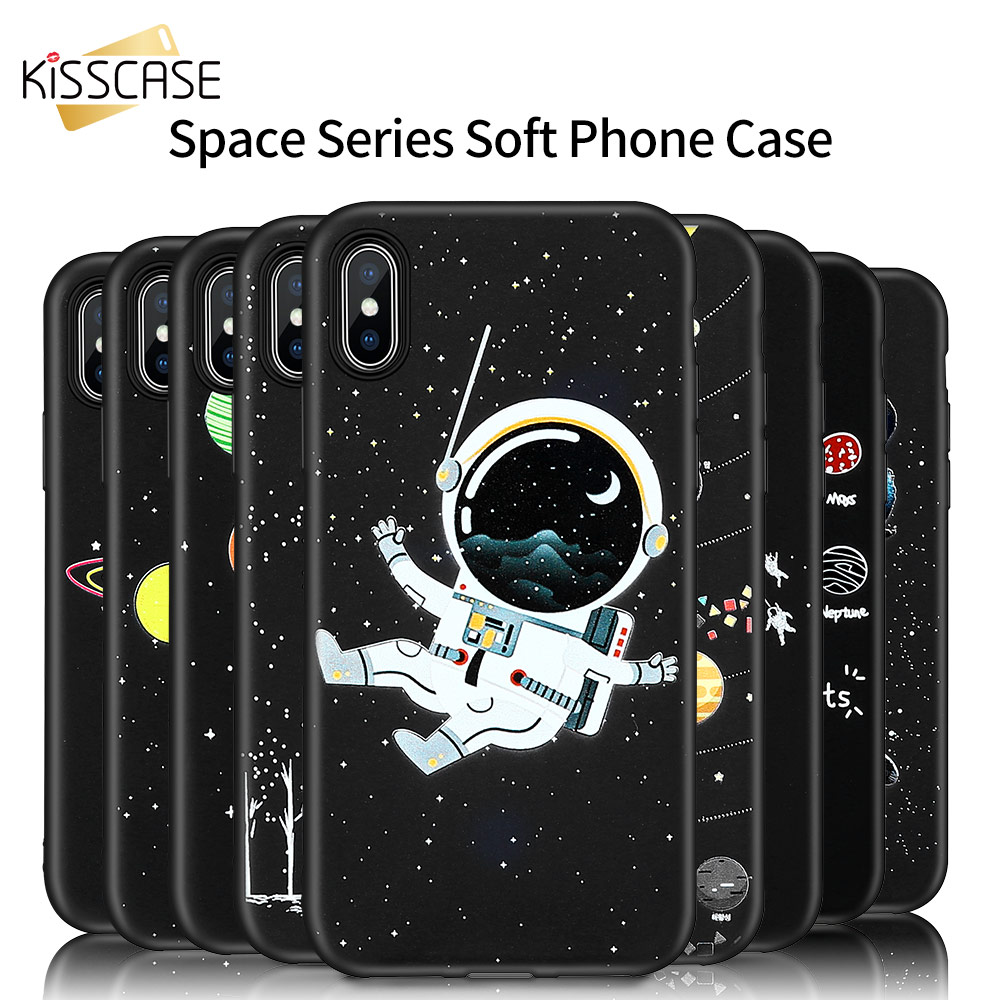 KISSCASE Space Moon Patterned Case For Samsung Galaxy A50 A70 A40 S9 S8 Plus Soft Cases For Samsung A7 A9 A8 2018 <font><b>J8</b></font> J6 <font><b>Capinhas</b></font> image