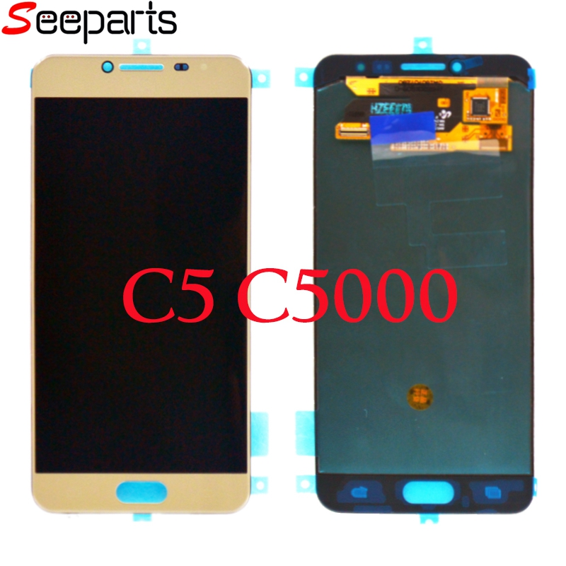 Super AMOLED For Samsung Galaxy C5 LCD C5000 Display Touch Screen Digitizer Assembly Replacement Parts For Samsung C7000 LCD    Super AMOLED For Samsung Galaxy C5 LCD C5000 Display Touch Screen Digitizer Assembly Replacement Parts For Samsung C7000 LCD