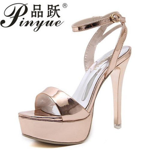 Size 34-39 Pu Leather High Heels Sandals 16cm Stripper Shoes Summer Wedding Party Shoes Women Gladiator Platform Sandals size 34 40 black and white pu leather high heels sandals 16cm sexy stripper shoes summer shoes women gladiator platform sandals