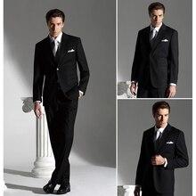 2017 Men Fashion Formal Suit black Dress Tuxedo costume homme terno masculino mens suits (Coat+Pants+Vest+Tie+Shirt) ZBY325 long