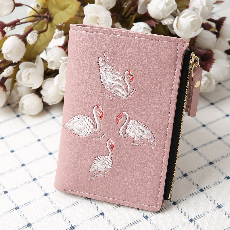 New, Embroidery, Casual, Wallets, Leather, Coin