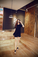 Chiffon Summer Style Dress Plus size for maternity women clothes pregnancy lace hollow out design