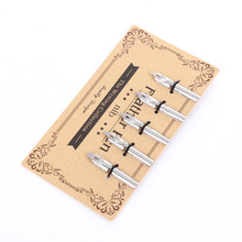 1Set/5pcs Stainless Steel Pen Nib type Water Thickness Replacement pen tip Custom Smooth Writing Fountain Nibs