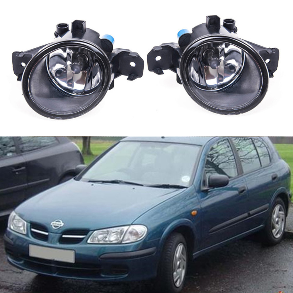 For NISSAN ALMERA 2/II Hatchback (N16) 2001-2006  Car styling Fog Lamps 55W halogen Lights 1SET for suzuki sx4 gy hatchback 2006 2012 car styling fog lamps halogen fog lights 1set