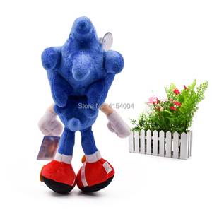 Image 4 - 20 pcs/lot Sonic Soft Doll Blue Sonic Cartoon Animal Stuffed Plush Toys Figure Dolls Halloween Christmas Gift For Children