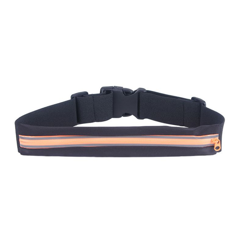 Waist Bag Women Men Anti-sweat Reflective Elastic Adjustable Zipper Belt Bags Phone Case Fitness Fanny Pack 2019 New Arrival