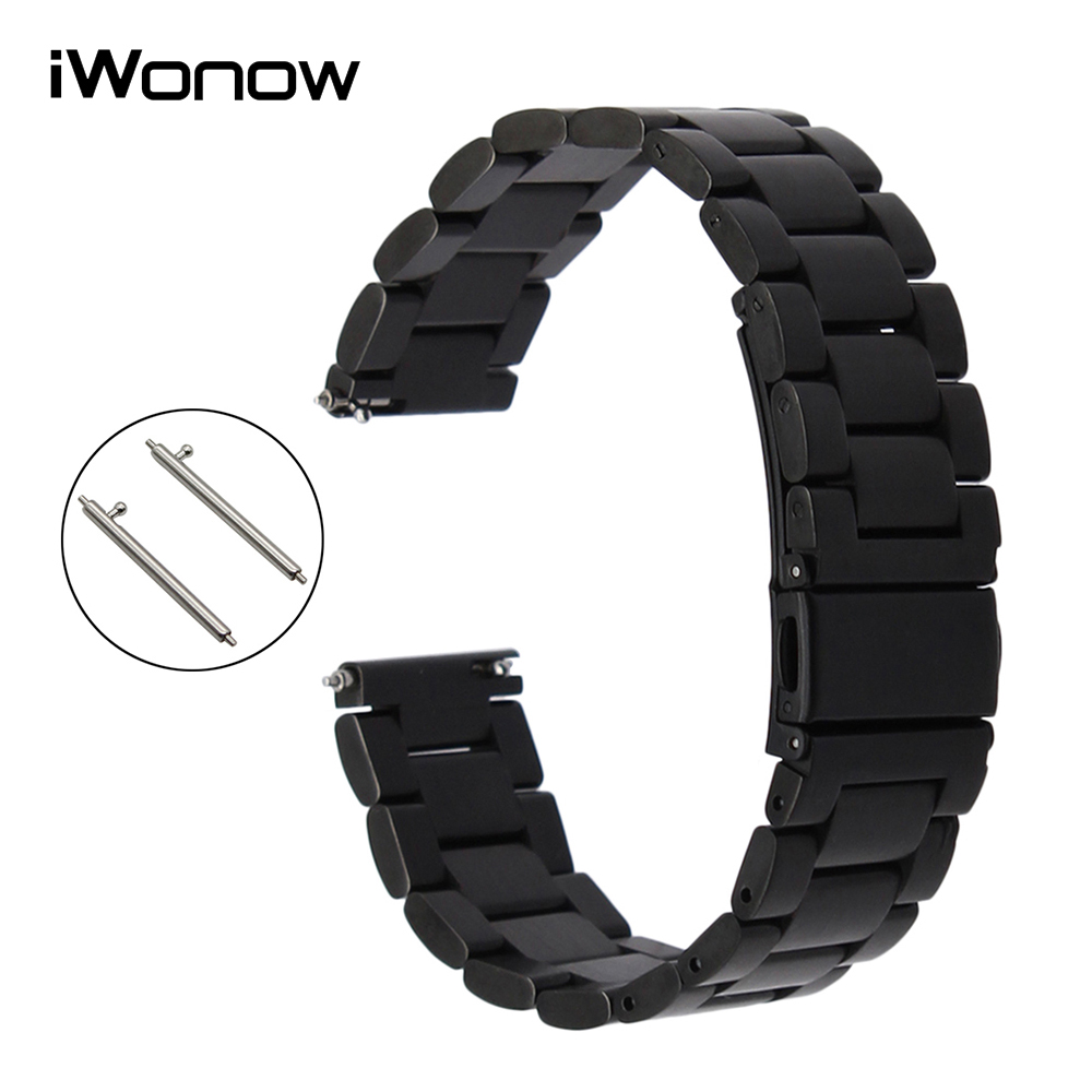18mm Quick Release Stainless Steel Band Wrist Strap for Huawei Watch 1st / Fit Honor S1 Asus ZenWatch 2 Women Withings Activite брошь fashion 1 oh0479 109