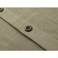 винтаж удобные для мужчин рубашки 100% хлопок короткий рукав приталенный Fit лето для мужчин одежда рубашки размер 4XL повседневное пляж свободного покроя мужской хомбре