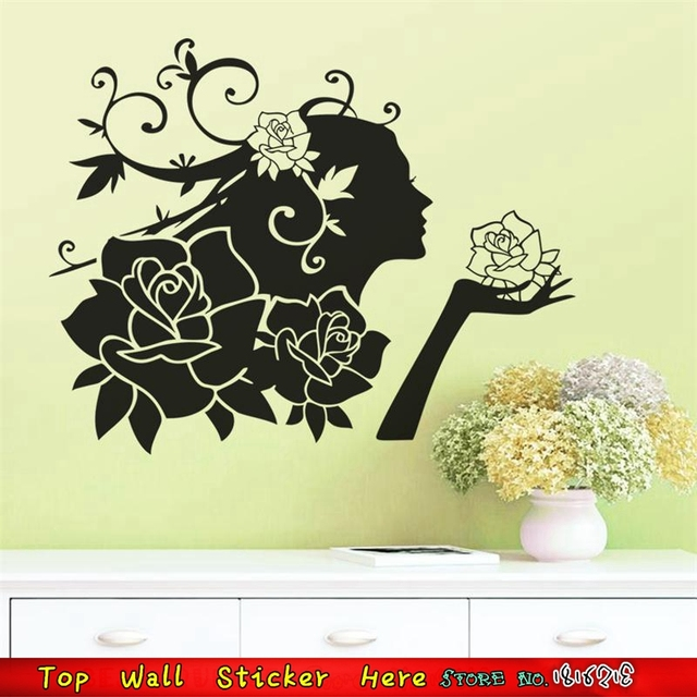 Flora Wall Stickers Flower Fairy Wall Stickers Home Decoration