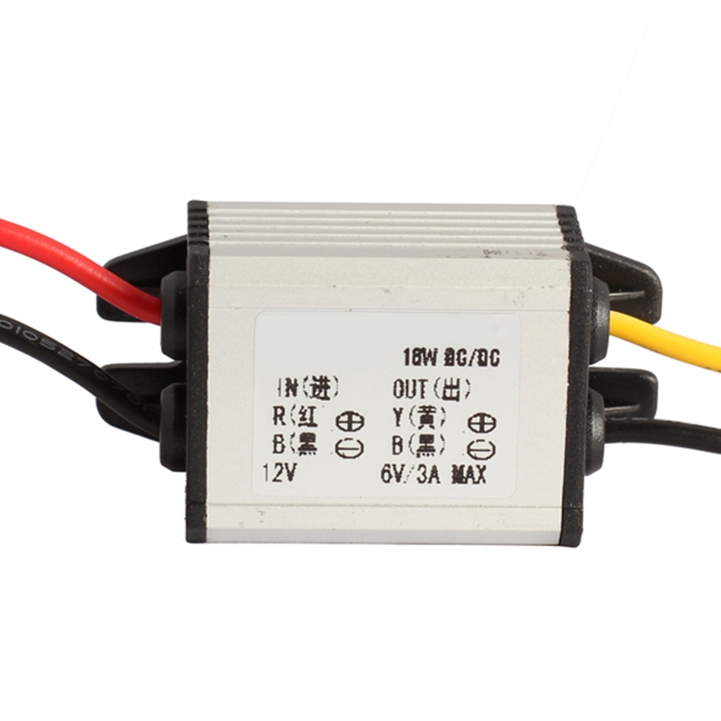Car Charger Converter 12V to 6V 3A 18W DC to DC Non-isolated Buck Step Down Module Waterproof Automobiles Power Supply Converter