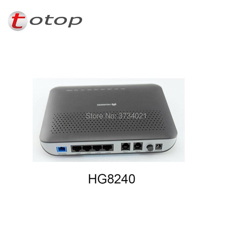 Huawei gpon onu HG8240 1GE + 3FE + 4 LANS + WIFI gpon onu pour routeur réseau à fibre optique