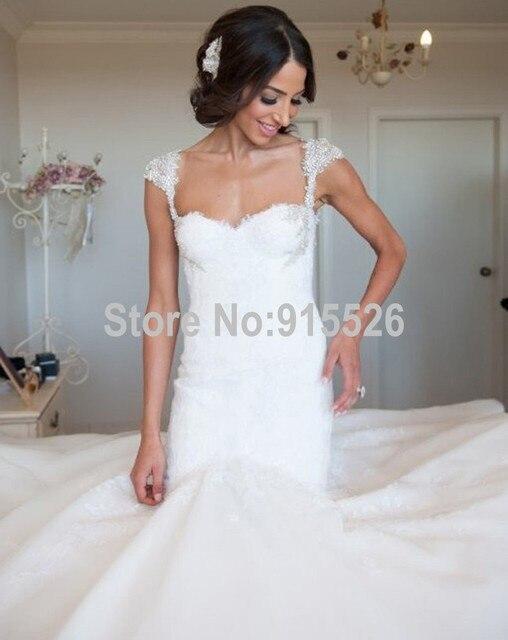 Mermaid Sweetheart Gothic Corset Wedding Dresses Backless Lace ...