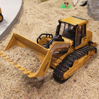 6CH 2.4GHz Electric Simulation RC Bulldozer Model Remote Control Truck Engineering Construction Vehicle Kid Hobby Collection Toy