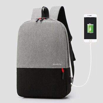 VRTREND USB Recharging Men Backpack  Multi-layer Large Business Travel Bag School Bag For Teenager Male Travel backpack Mochila