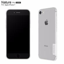 Cas de Nillkin pour Apple iphone 7 nature Effacer silicone Souple TPU Protecteur cas pour iphone7 4.7 pouce cas transparent emballage de détail