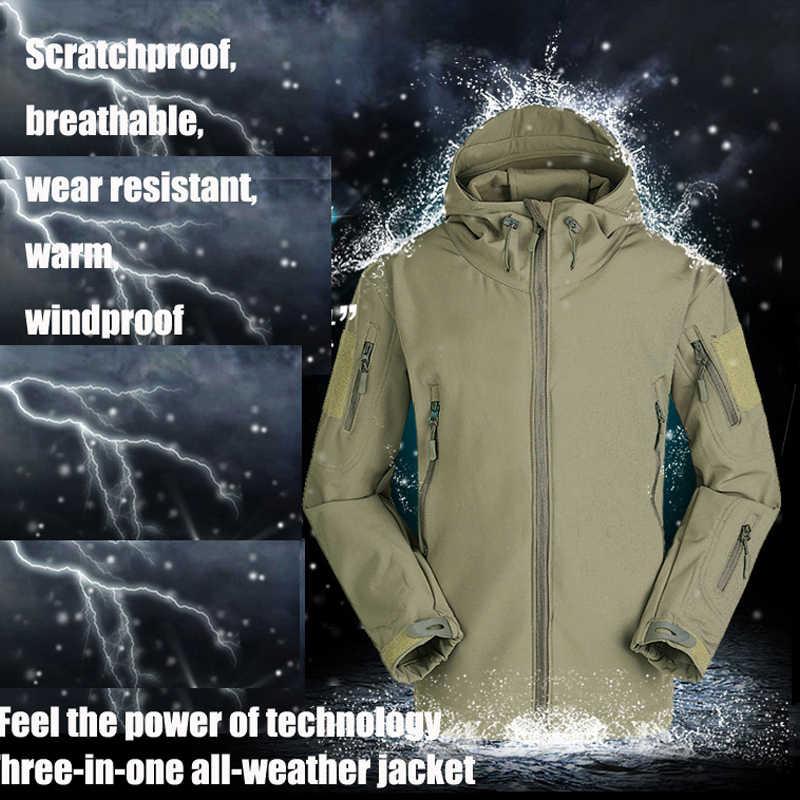 ルルカーシャークスキンソフトシェル V5 軍服衣服戦術的な軍事防水コート迷彩 Hooded Army 迷彩服