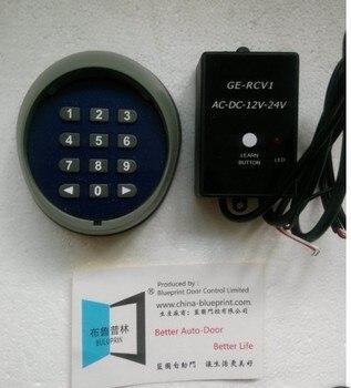 Clavier sans fil d'ouverture de porte avec récepteur externe, serrure à code pour ouvre-porte, clavier de porte de garage