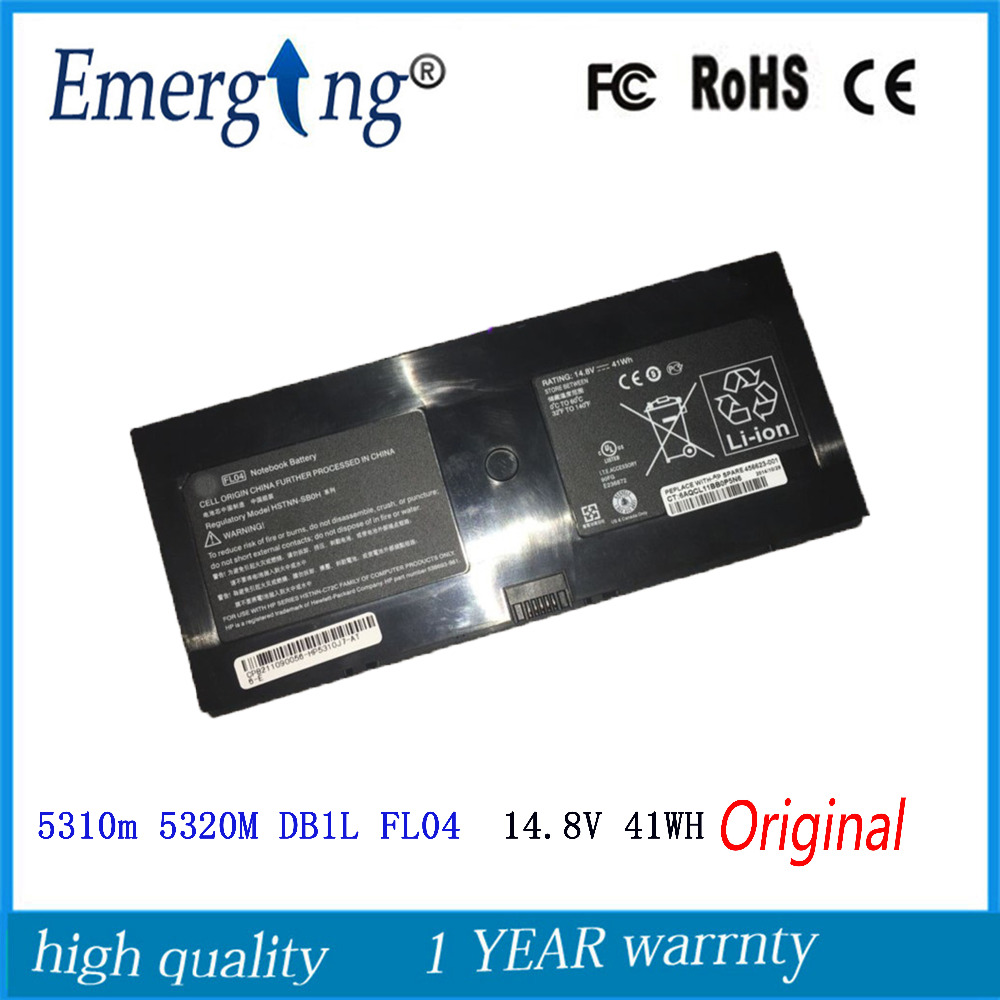 14.8V 41WH New Original Laptop <font><b>Battery</b></font> for <font><b>HP</b></font> <font><b>PROBook</b></font> 580956-001 AT907AA BQ352AA <font><b>5310M</b></font> 5320M DB1L FL04 image