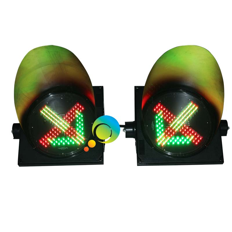 300MM toll station guidance traffic signal lights LED green arrow red cross light