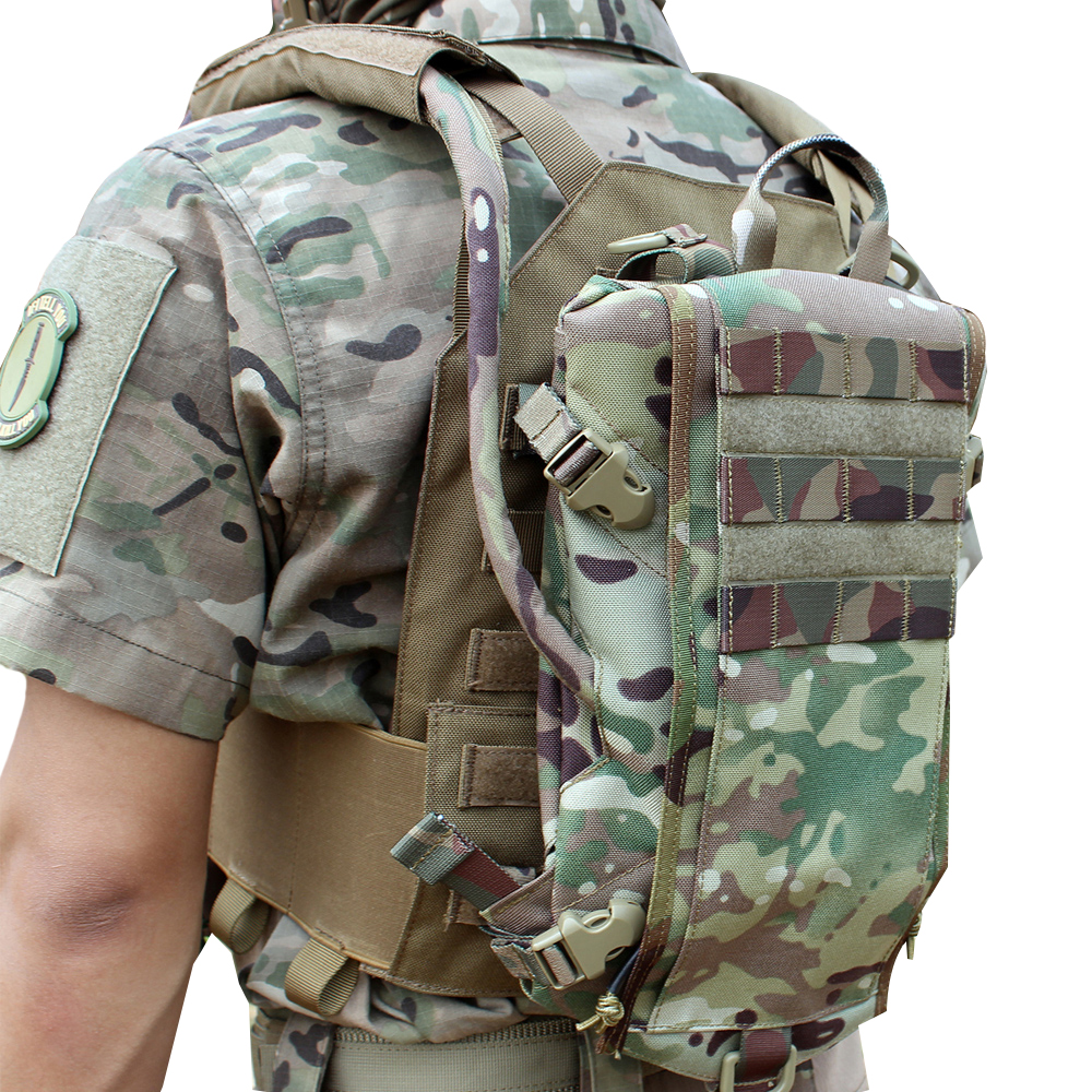 Military Tactical 2L Hydration Bladder Carrier Backpack