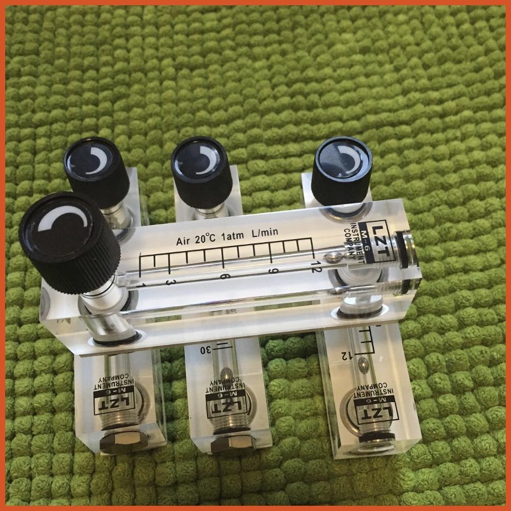 LZT-6T 200-800 ml/min Square Panel Type Liquid Flowmeter Air Flow Meter rotameter LZT6T Tools Flow Measuring