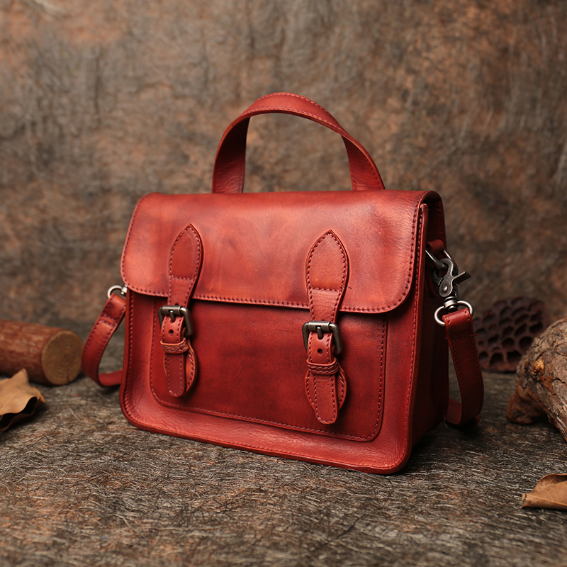 Office Ladies Hand Bags 2018 Handmade Genuine Leather Men Messenger Bag Retro Women Cover Handbags Unisex Shoulder Sling Bags vintage women genuine leather handbags ladies retro elegant shoulder messenger bag cow leather handmade womans bags