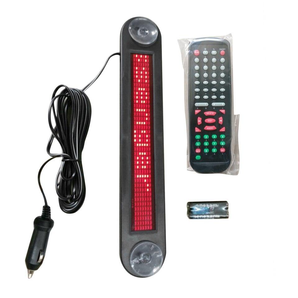 Новый DC12V автомобиля светодиодная вывеска Дистанционное управление программируемые rolling информации английские буквы подписать рекламный ...