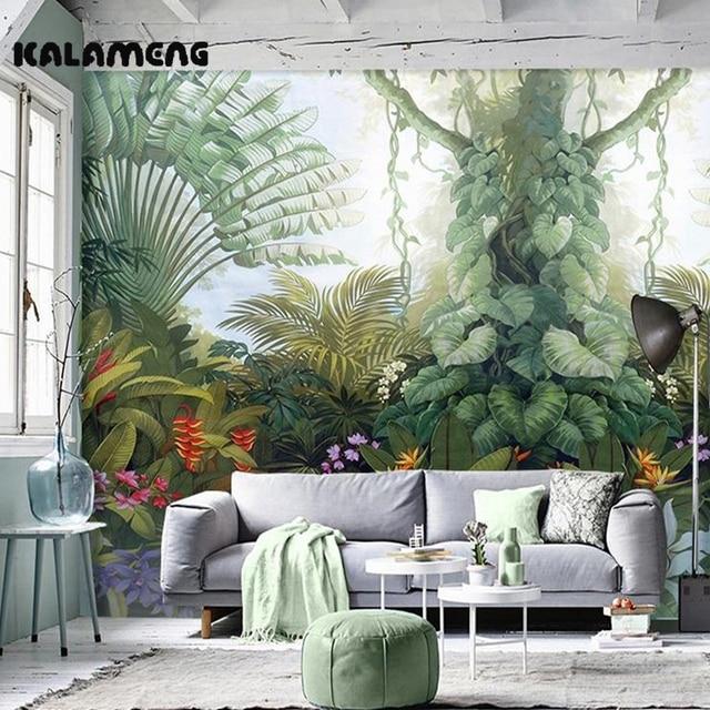 Kalameng personalizzato 3d carta da parati disegno foresta pluviale foto cucina camera da letto - Carta da parati x cucina ...