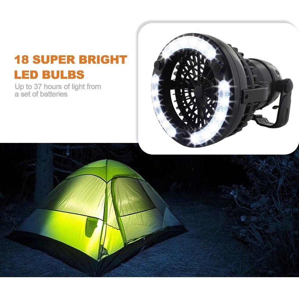 Tragbare Beleuchtung Camping Laterne Licht Fan Storm Lampe 18 Led 2,5 Watt 2 In 1 Taschenlampe Outdoor Wandern Angeln Fahrrad Zelt Laternen Lampe